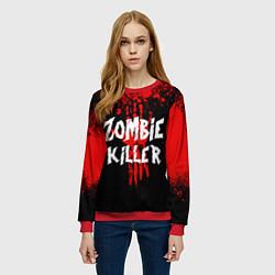 Свитшот женский Zombie Killer цвета 3D-красный — фото 2