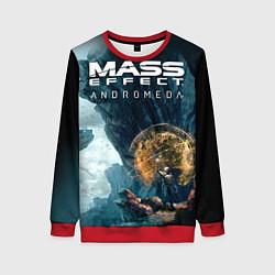 Свитшот женский Mass Effect: Andromeda цвета 3D-красный — фото 1