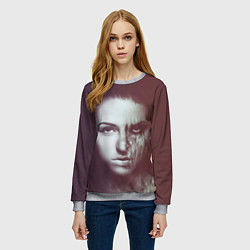 Свитшот женский Chelsea Grin: Death Girl цвета 3D-меланж — фото 2