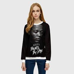 Свитшот женский Dr. Dre: 100% Beats цвета 3D-белый — фото 2
