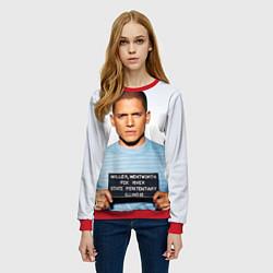 Свитшот женский Prison Break: Michael Scofield цвета 3D-красный — фото 2