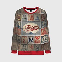 Свитшот женский Fargo brands цвета 3D-красный — фото 1