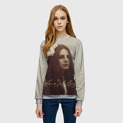 Свитшот женский Lana Del Rey: Flower цвета 3D-меланж — фото 2