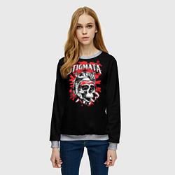 Свитшот женский Stigmata Skull цвета 3D-меланж — фото 2
