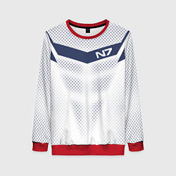 Свитшот женский N7: White Armor цвета 3D-красный — фото 1