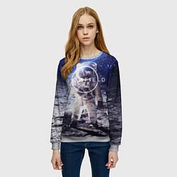 Свитшот женский Starfield: Astronaut цвета 3D-меланж — фото 2