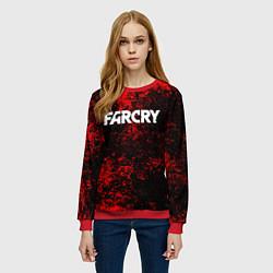 Свитшот женский FARCRY цвета 3D-красный — фото 2