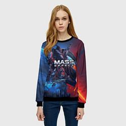 Свитшот женский Mass EFFECT Legendary ed цвета 3D-черный — фото 2