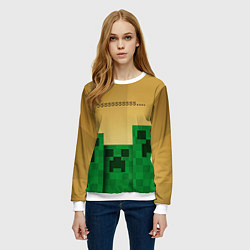 Свитшот женский Minecraft Sssss цвета 3D-белый — фото 2