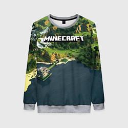Свитшот женский Minecraft Location цвета 3D-меланж — фото 1