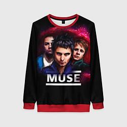 Свитшот женский Muse Band цвета 3D-красный — фото 1