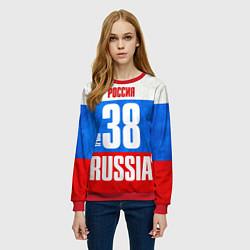 Свитшот женский Russia: from 38 цвета 3D-красный — фото 2