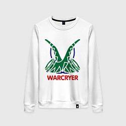 Свитшот хлопковый женский Orc Mage - Warcryer цвета белый — фото 1