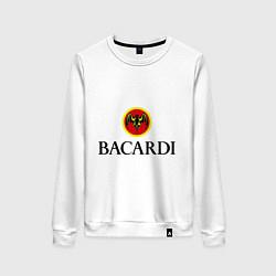 Свитшот хлопковый женский Bacardi цвета белый — фото 1
