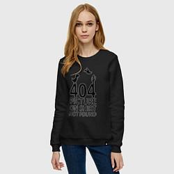 Свитшот хлопковый женский 404 цвета черный — фото 2