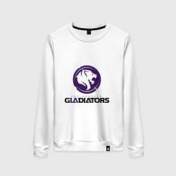 Свитшот хлопковый женский Los Angeles Gladiators цвета белый — фото 1