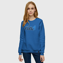 Свитшот хлопковый женский Dallas Fuel цвета синий — фото 2