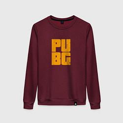 Свитшот хлопковый женский PUBG Only цвета меланж-бордовый — фото 1