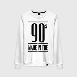 Свитшот хлопковый женский Made in the 90s цвета белый — фото 1