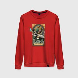 Свитшот хлопковый женский Loki Art nouveau цвета красный — фото 1