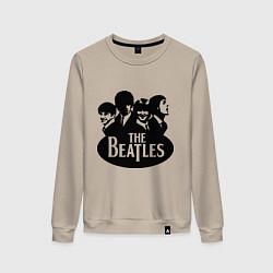 Свитшот хлопковый женский The Beatles Band цвета миндальный — фото 1