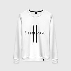 Свитшот хлопковый женский Lineage logo цвета белый — фото 1