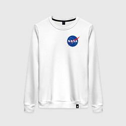 Свитшот хлопковый женский NASA цвета белый — фото 1
