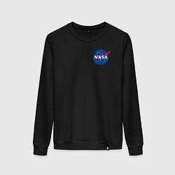 Свитшот хлопковый женский NASA цвета черный — фото 1