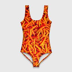 Купальник-боди 3D женский Морковь цвета 3D — фото 1