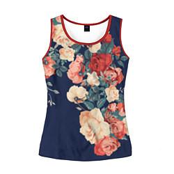 Женская майка без рукавов Fashion flowers