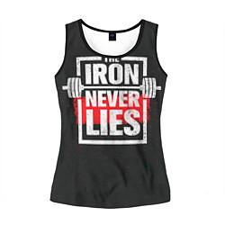Майка-безрукавка женская The iron never lies цвета 3D-черный — фото 1