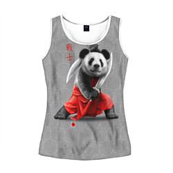 Майка-безрукавка женская Master Panda цвета 3D-белый — фото 1