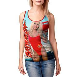 Майка-безрукавка женская Baywatch: Pamela Anderson цвета 3D-красный — фото 2