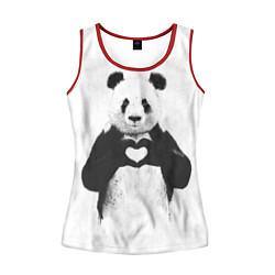 Женская майка без рукавов Panda Love