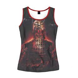 Майка-безрукавка женская Oxxxymiron: Горгород цвета 3D-красный — фото 1