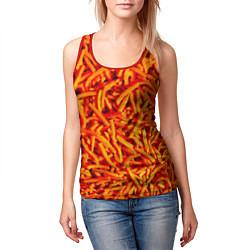 Майка-безрукавка женская Морковь цвета 3D-красный — фото 2