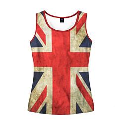 Майка-безрукавка женская Великобритания цвета 3D-красный — фото 1