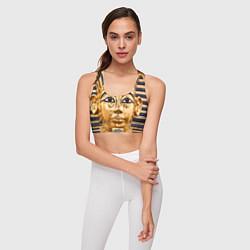 Топик спортивный женский Фараон цвета 3D-принт — фото 2