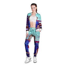Олимпийка женская КАПИТАН ТРАМП цвета 3D-белый — фото 2
