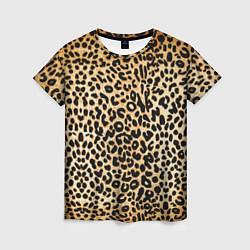 Женская футболка Гепард (шкура)