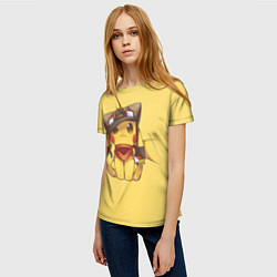 Футболка женская Pikachu цвета 3D-принт — фото 2
