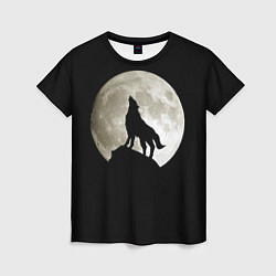 Футболка женская Moon Wolf цвета 3D — фото 1