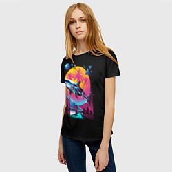 Футболка женская Ретро акула цвета 3D — фото 2