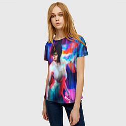 Футболка женская Ghost In The Shell 13 цвета 3D — фото 2