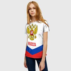 Футболка женская Russia Hockey Team цвета 3D — фото 2