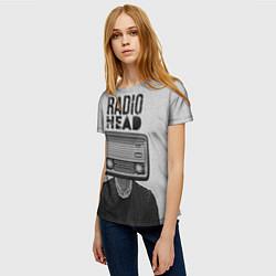Футболка женская Radiohead Retro цвета 3D — фото 2
