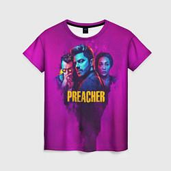 Футболка женская Preacher цвета 3D-принт — фото 1
