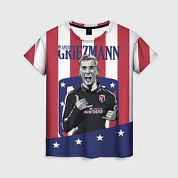 Футболка женская Griezmann: Atletico Star цвета 3D-принт — фото 1