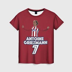 Футболка женская Antoine Griezmann 7 цвета 3D — фото 1
