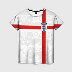 Футболка женская Сборная Англии цвета 3D-принт — фото 1